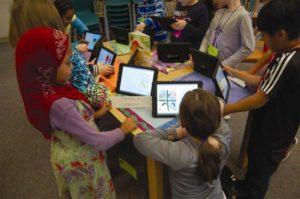Kids with iPads