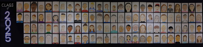 self portraits of 5th graders